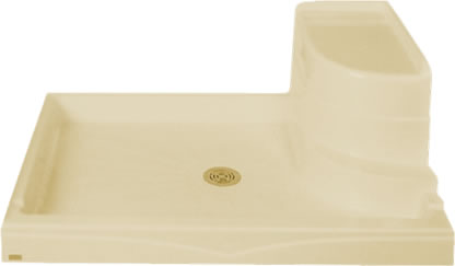 Curved Seat Shower Base