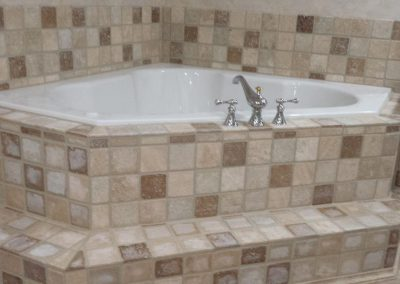 Garden Tub w/Custom Tile